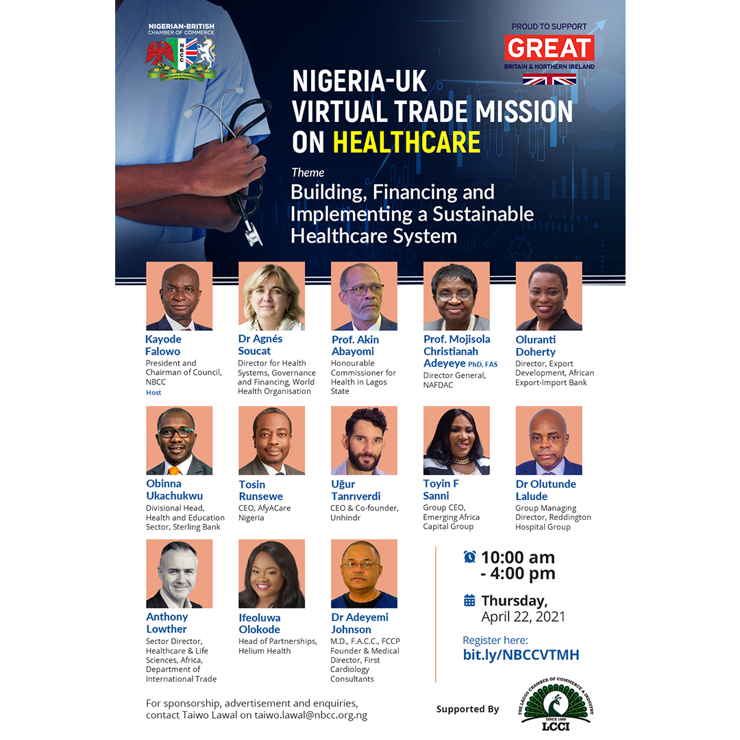 NBCC Upcoming Programmes - Nigeria-UK Virtual Trade Mission on Healthcare