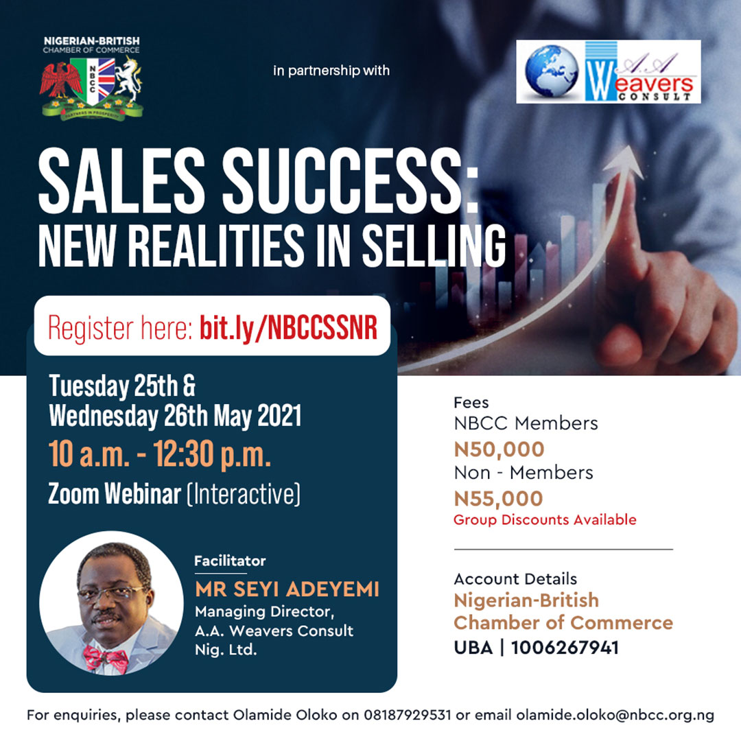 NBCC Upcoming Programmes - Sales Success: New Realities in Selling