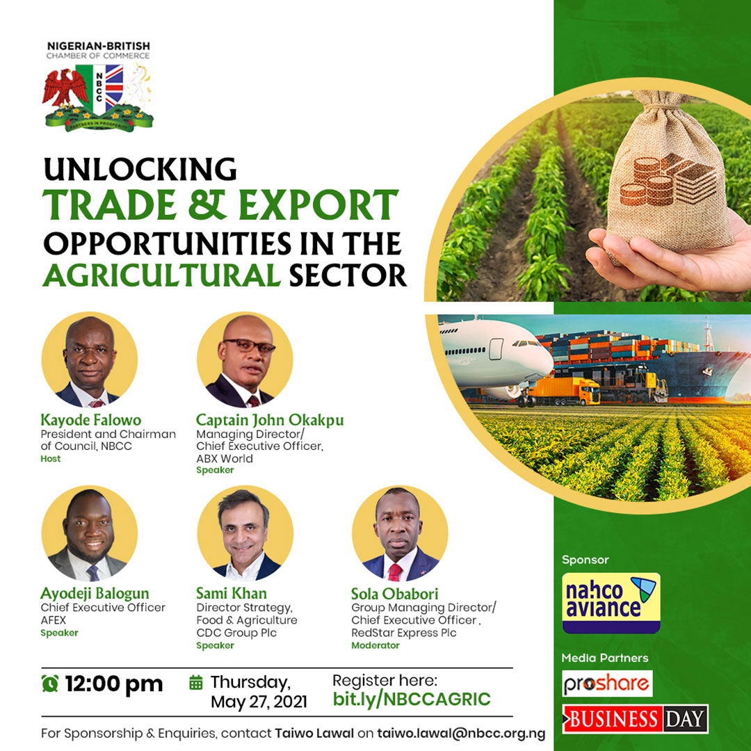 NBCC Upcoming Programmes - Unlocking Trade and Export Opportunities in the Agricultural Sector